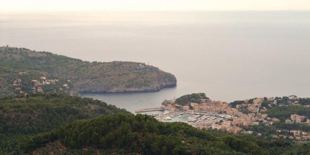 Blick über die Bucht von Sollér