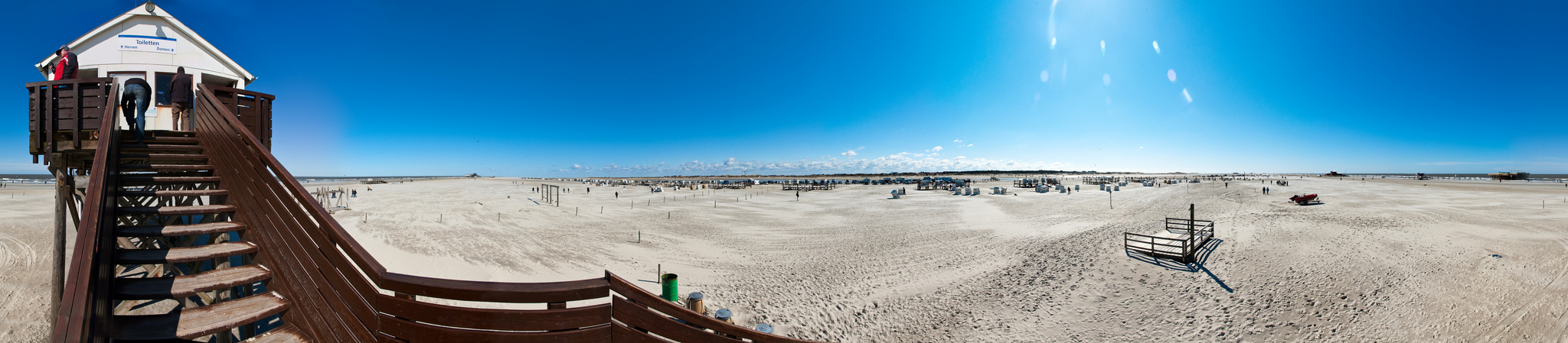 Panorama vom Strand in Sankt Peter-Ording
