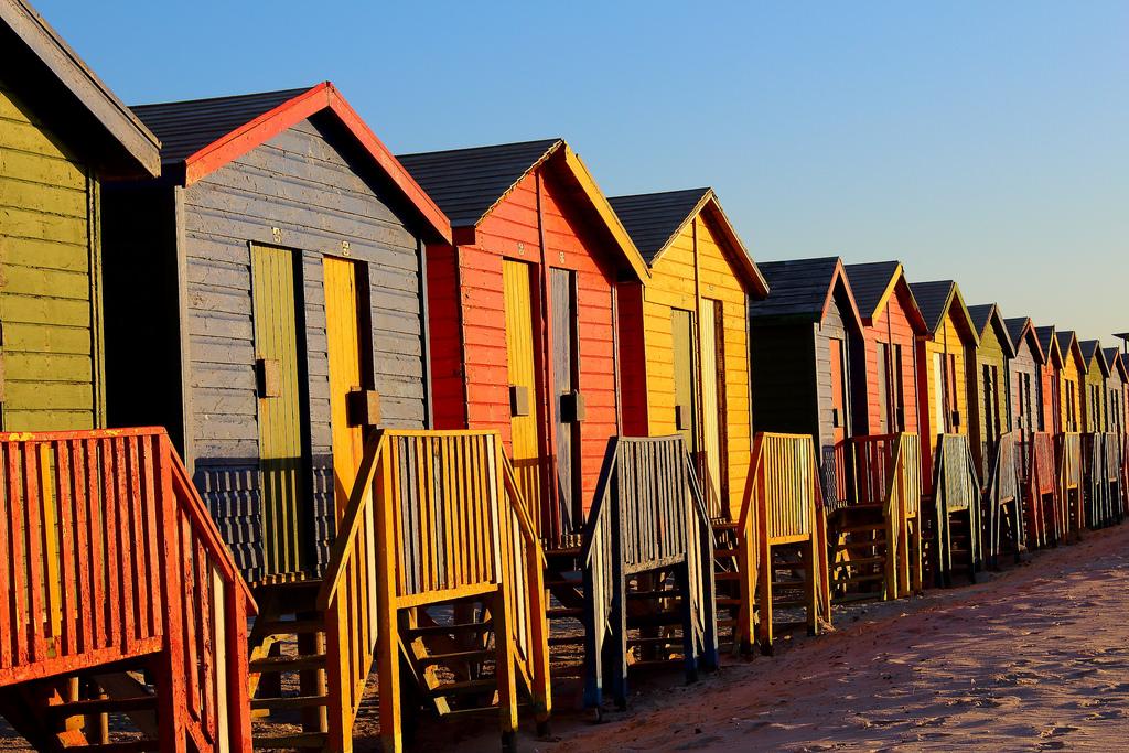 Reihenhäuser am Strand