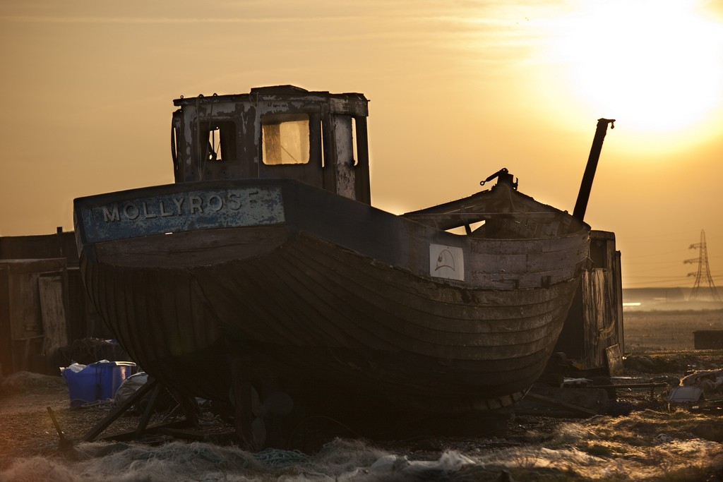 Fischerboot in Dungeness