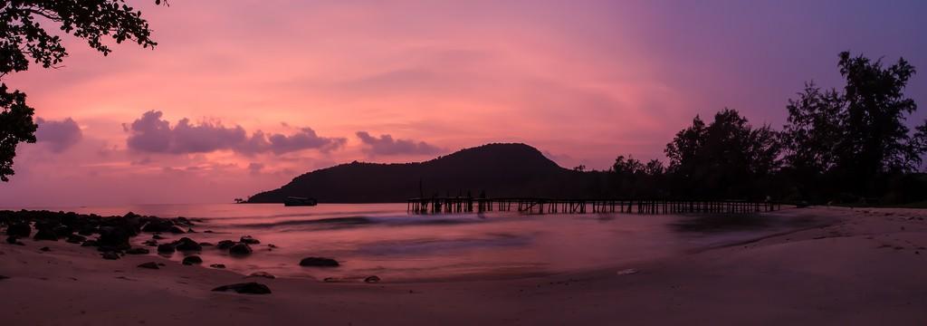 Sonnenuntergang am Strand von Koh Rong