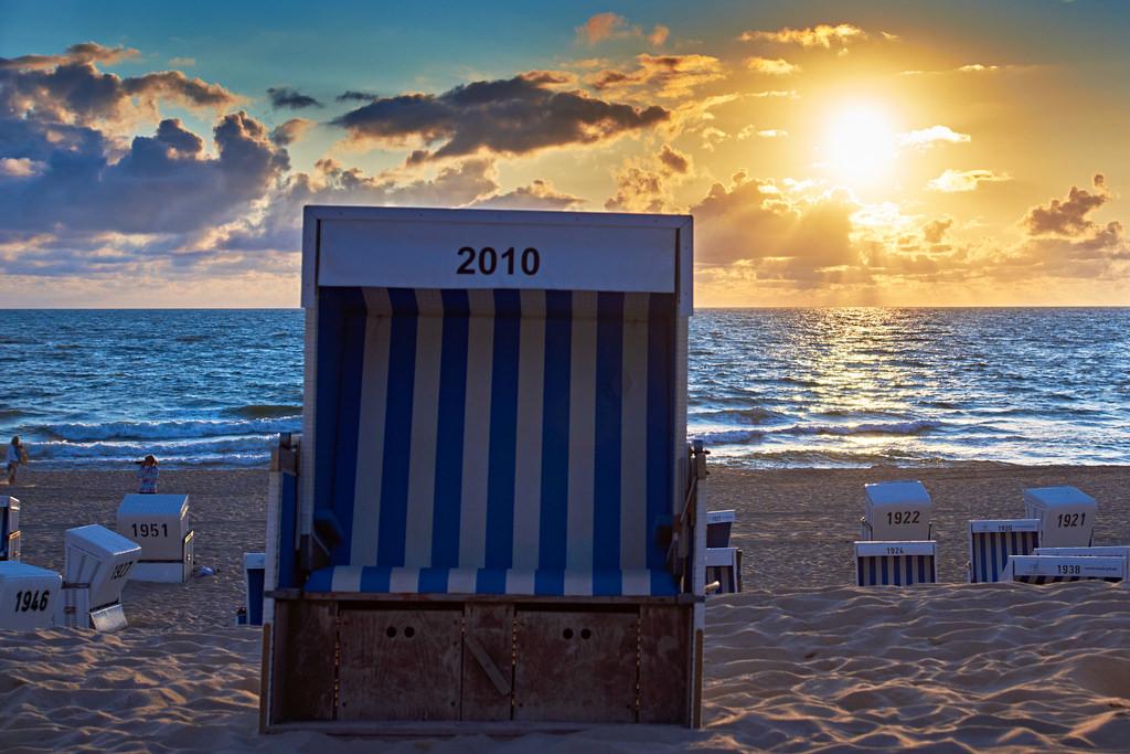 Strandkorb bei Westerland auf Sylt