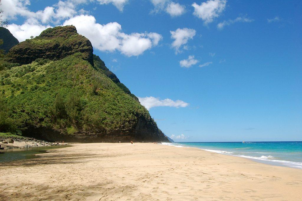 Strand Hanakapiai auf Hawaii
