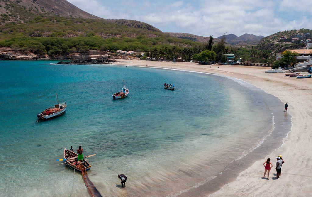 Der Strand von Tarrafal auf Santiago (Kapverden)
