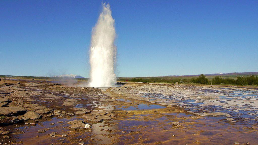 Geisir auf Island