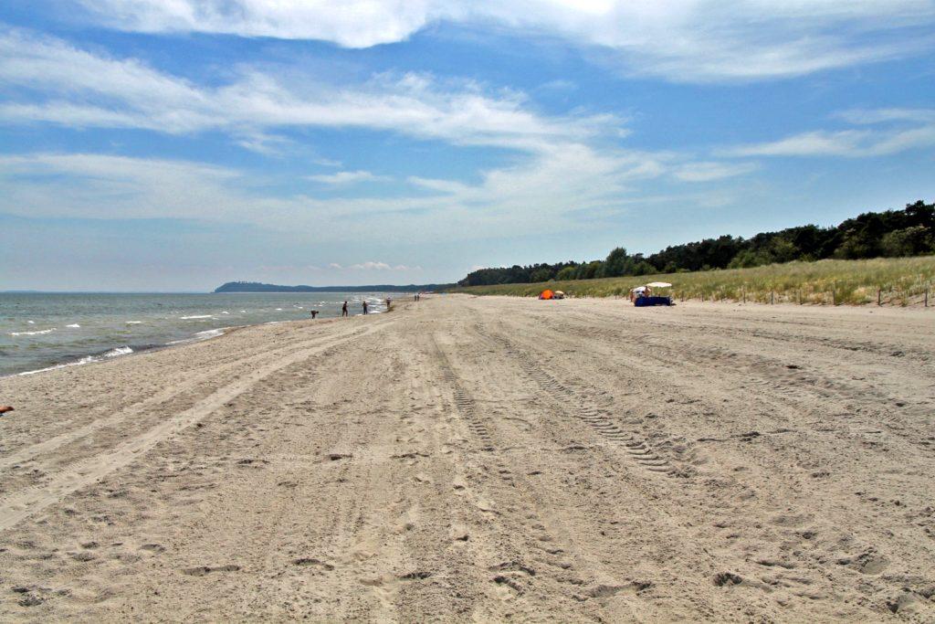 Der Strand zwischen Lobbe und Thiessow