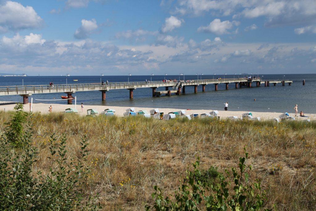 Blick auf die Seebrücke von Göhren