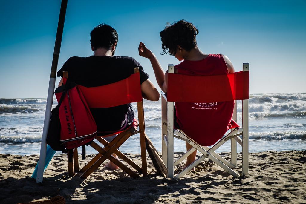 Badeaufsicht am Strand von Viareggio