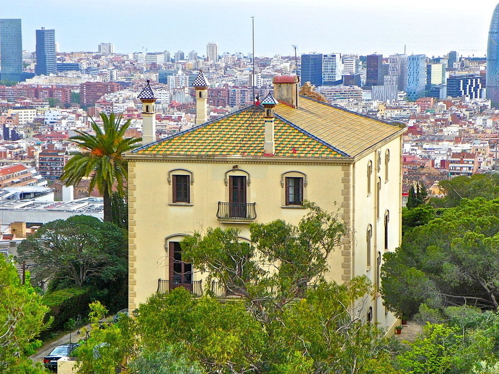 Blick über Barcelona im April